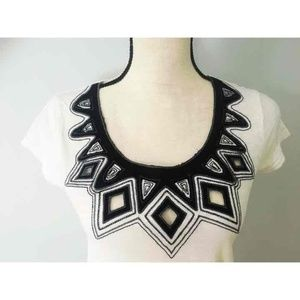 Geometric Cutout Anthropologie Top
